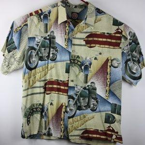 Official Harley Davidson Hawaiian shirt size 2XL